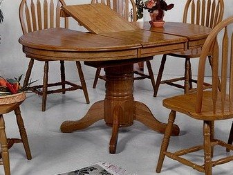 Amazon.com: Oval Dining Table with Butterfly Leaf: Kitchen & Dining