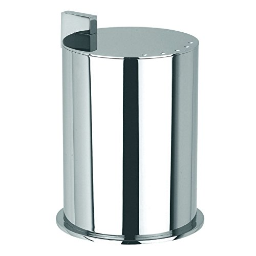 Ginger Kubic Solid Brass Vanity Jar No. 2, Large, Polished Chrome by Ginger