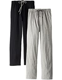 Men's Solid Knit Jersey Pajama Pant (Pack of Two Pairs)
