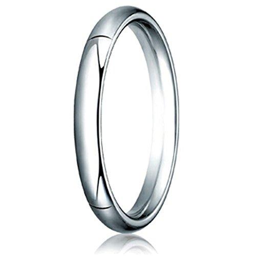 Benchmark 14k Gold 3.0mm Slightly Domed Super Light Comfort-fit Wedding Band / Ring Size 10 ()