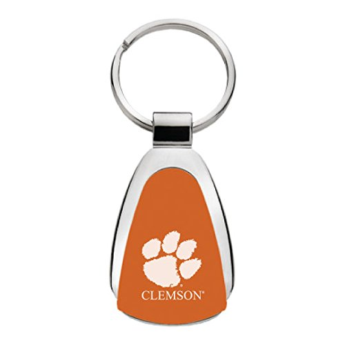 Clemson Keychain (LXG Clemson University - Teardrop Keychain - Orange)