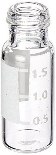National Scientific Target DP C5000-80W Glass Clear Vial and Blue Polypropylene Cap Convenience Kit with I-D Patch and Ivory PTFE/Red Rubber Septum, 2ml Volume (Pack of 100) (Id Kits Vials Target Clear)