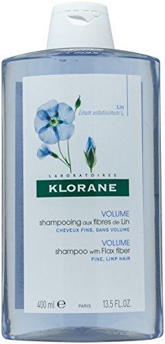 Klorane Volumizing Shampoo with Flax Fiber, Adds Lift & Texture to Fine Flat Hair, Paraben, Silicone, SLS Free, 13.5 oz.
