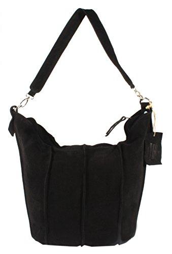 Rodhschild - Bolso al hombro para mujer marrón coñac negro