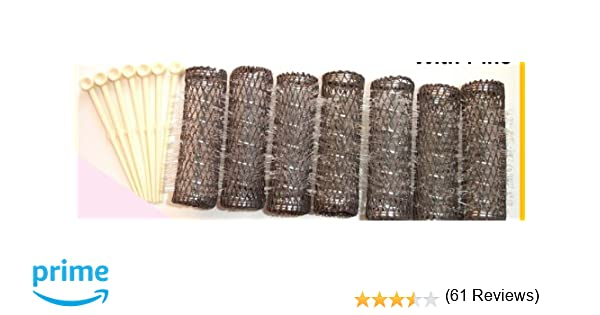 Amazon.com : 2 Packs (14 Total) MEDIUM BRUSH ROLLERS & PINS Hair ...
