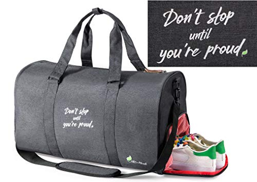 All Soul Great Gym Bag Duffel Gym Bag Black 2 Weekender Duffel Bag with Shoe Compartment | For ()