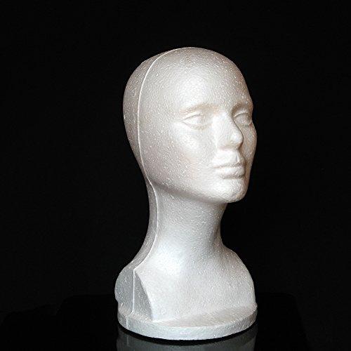 Female Foam Mannequin Manikin Head Model Shop Hat Wig Hair Jewelry Glasses Display Stand by BaoST (Image #2)