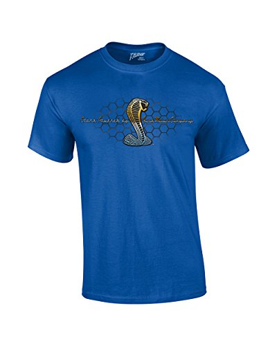 - Mustang Cobra T-Shirt Powered By Ford Motor Co.-Royal-Xl