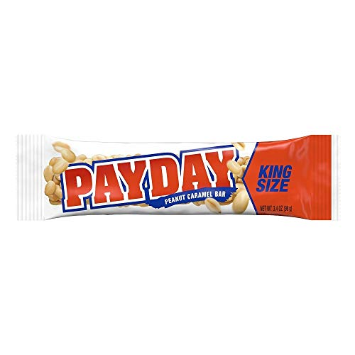 PAYDAY Peanut Caramel Candy Bars, 3.4 Ounce Bar (Pack of 36)