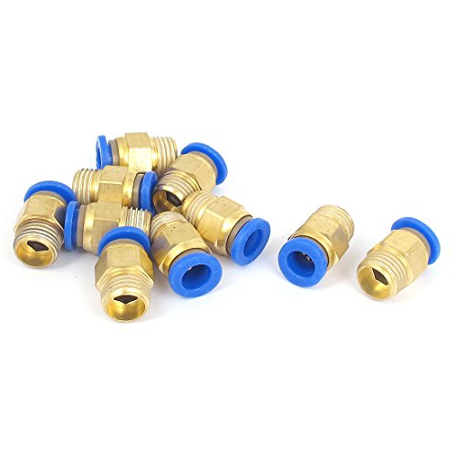 UPC 712662728948, uxcell 8mm Tube Quick Air Fitting Coupler Connector 10pcs