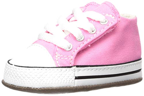 Converse Girls' Chuck Taylor All Star Cribster Canvas Color Sneaker, Pink/Natural Ivory/White, 2 M US Infant ()