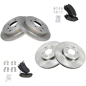 Rear Premium Posi Ceramic Disc Brake Pads /& Rotor Kit for BMW X5 X6 SUV Truck