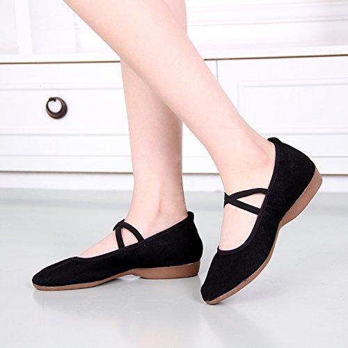 KPHY-Flache Schuhe Schuhe Schuhe Präsident weich Tanzschuhe Erwachsene atmungsaktiv Square Dance Schuhe Schuhe Mutter hat eine Rutschfeste einzelne Schuhe 2baa9c