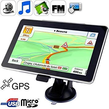 Uniqus 7.0 inch TFT Touch-Screen Car GPS Navigator, Built in 4GB Memory, Mini USB Port, Touch Pen, Voice Broadcast, FM Radio Function, Built-in Speaker, Resolutions  800 x 480(Black)
