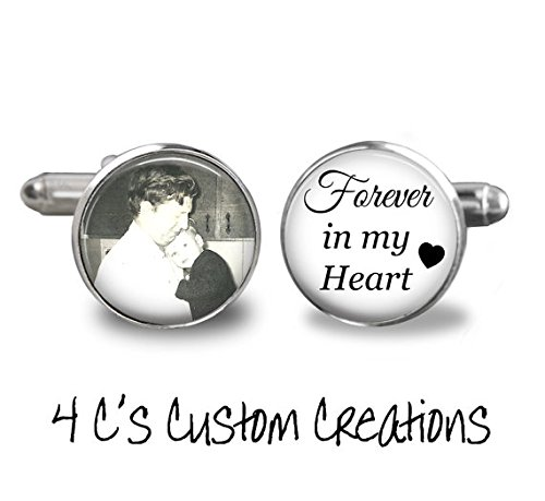 Amazon Custom Photo Cufflinks Wedding Keepsake Forever In My