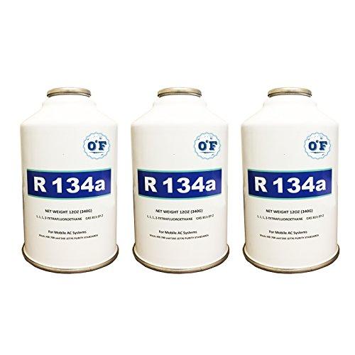 ZeroF R-134A Refrigerant 3 12oz Cans - 134a Refrigerant