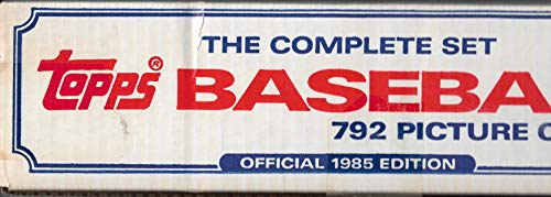 1985 Topps Baseball Factory Sealed Set 792 Cards Mcgwire,Clemens Puckett - Card 1985 Topps Baseball Set