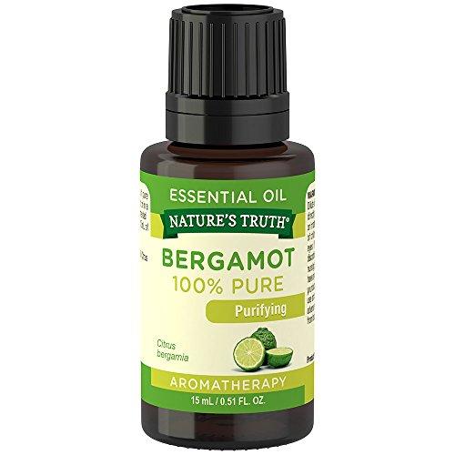 Nature's Truth Vitamins Bergamot Essential Oil, Bergamot, 0.51 Fluid Ounce (Oils Essential Vitamins)