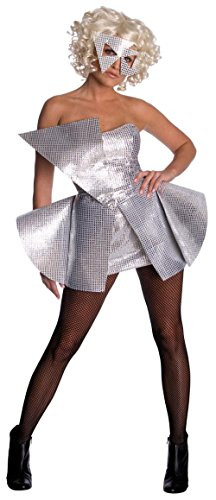 Lady Gaga Sequin Dress,Silver,Small Costume