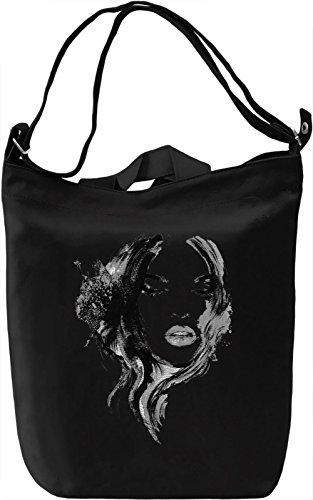Face Borsa Giornaliera Canvas Canvas Day Bag| 100% Premium Cotton Canvas| DTG Printing|
