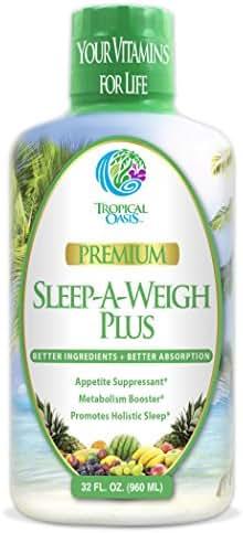 Sleep-A-Weigh Plus w/ Liquid Collagen – Natural Weight loss & Sleeping Aid - 32oz, 32 serv