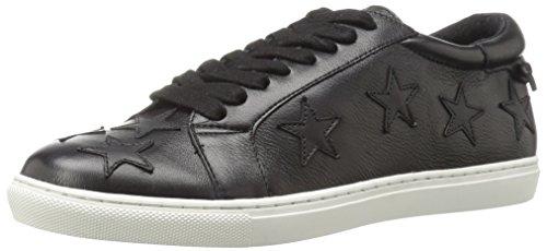 JSlides Women's Cali Fashion Sneaker, Black, 6.5 M US
