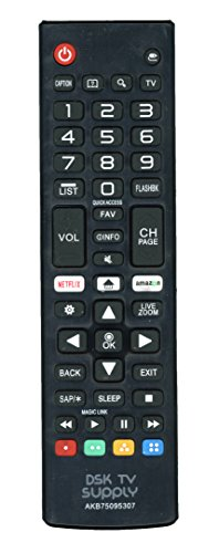 DSK TV Supply AKB75095307 Remote Control for LG LED/ LCD TVs (LJ and UJ (Lcd Tv Remote Control)
