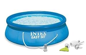 Intex 15 39 x 48 easy set swimming pool kit w Intex 18 x 48 easy set swimming pool
