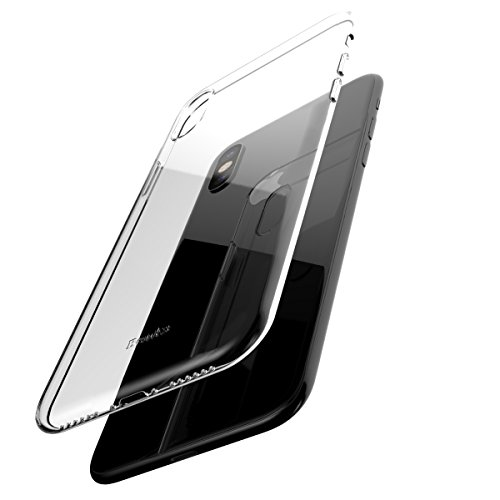 Transparent Clear Skin (iPhone X/10 Protective Case, Benks 1mm Ultra Thin PC Case Cover [Support Wireless Charging] Shockproof Transparent Back Bumper Skin for iPhoneX-5.8 inch (Clear for iPhone10))