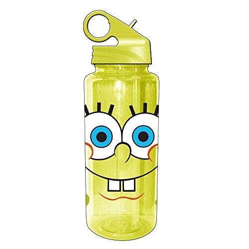 Silver Buffalo SG1064 Nickelodeon SpongeBob Teeth Tritan Water Bottle, (Spongebob Squarepants Water)