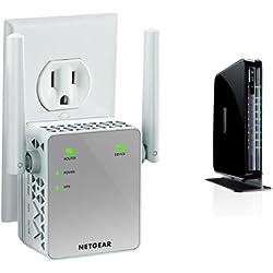 NETGEAR N750 Dual Band Wi-Fi Gigabit Router (WNDR4300) and AC750 Wi-Fi Range Extender (EX3700-100NAS)