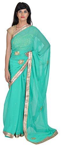 tanishq-designers-womens-chiffon-saree-green