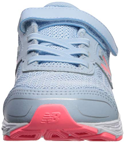 New Balance Girls' 680v5 Hook and Loop Running Shoe, air/Guava, 2 XW US Infant by New Balance (Image #4)