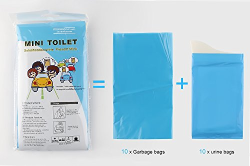 GGBuy Disposable Urine Bags Camping Pee Bags for Travel Urinal Toilet Super Absorbent Traffic Jam Emergency Portable Urine Bag Pee Bags Car Toilet for Men Women Children Brief Relief, 10 Pcs by GGBuy (Image #6)