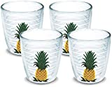 Cheap Tervis 1018401 Pineapple Tumbler with Emblem 4 Pack 12oz, Clear