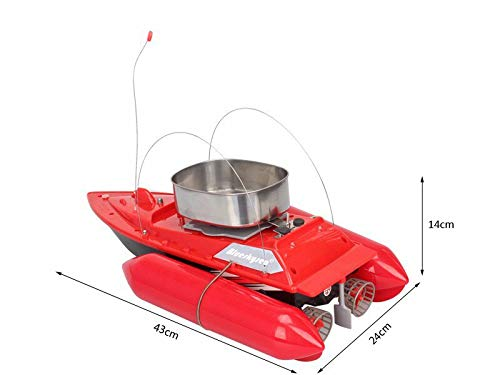 Blueskysea Smart RC Bait Boat Fish Finder Barco Remote Control Fishing Boats Fishing Tool Speedboat RC Ship Toys Extra Battery Red