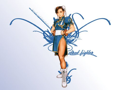 Street Fighter II Cosplay Costume - -Chun-Li 1st Blue Kid Large by Dream2Reality (Image #1)