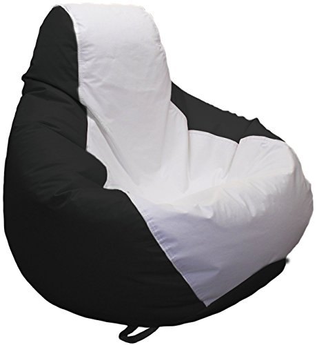 Ocean-Tamer Medium Teardrop Marine Bean Bag (White/Black) Black Vinyl Bean Bag