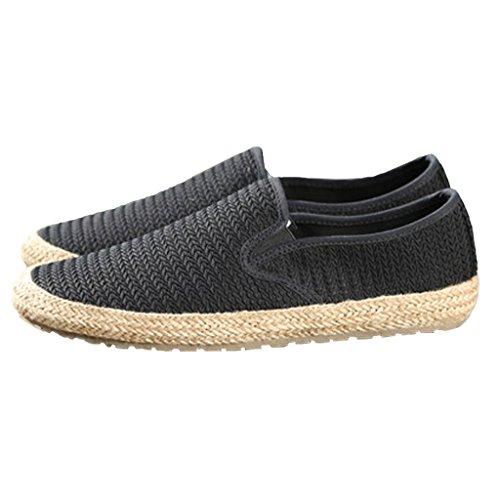 estate shoes da Scarpe traspirante vecchia Colore SHOP EU39 XIANG Pechino da uomo SHI paglia pescatore dimensioni di CN40 5 Blu LI pigro canvas Nero tela UK6 tempo libero 7x6YIyq