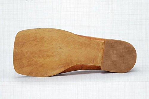 Zapatos Retro Generoso Boca la ZFNYY Baja bajo de Arte Tacón Zapatos Bordado de Lindo Personalidad Gato Temperamento de dtq6fx
