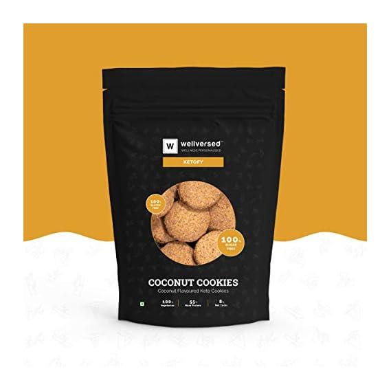 Ketofy - Coconut Keto Cookies (400g) | Bakery Style Gourmet Cookies | 100% Sugar Free | Gluten Free