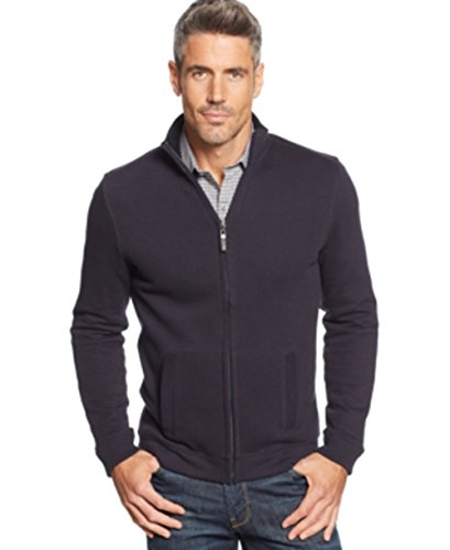 Tasso Elba Big and Tall French-Rib Full-Zip Sweater