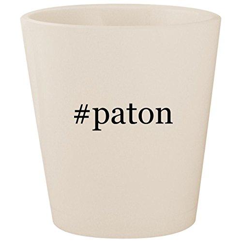 #paton - White Hashtag Ceramic 1.5oz Shot Glass - Diana Metal Chair