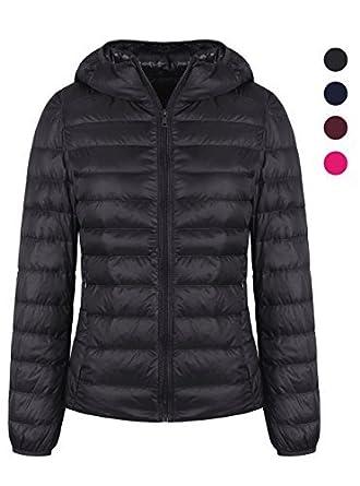 884cde6175 ZITY Puffer Down Jacket,Lightweight Packable Hooded Warm Coat Black US XXS