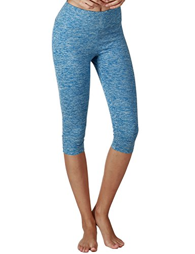Yoga Reflex Women's Tummy Control Active Tights Yoga Running Leggings Capris , (Faces Lounge Pants)