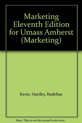 Marketing Eleventh Edition for Umass Amherst