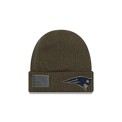 New Era 2018 Mens Salute to Service Knit Hat (New England Patriots)