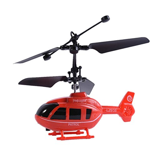 Balai Kid's RC Toy Mini RC Plane Radio Remote Control Aircraft RC Helicopter Electric Aircraft with Led flashing light-Red (Radio Helicopter Electric Control)