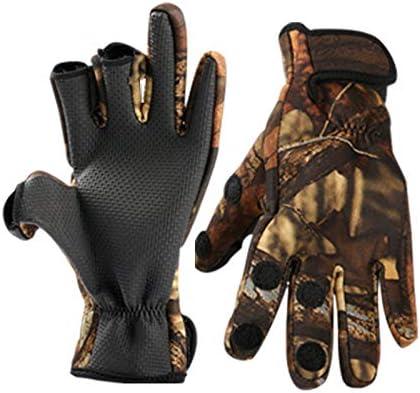 暖かい 手袋 冬のメンズ自転車手袋滑り止めオートバイ防風と釣り手袋は3本の指2本を表示できます。 SGSJP (Color : 緑, Size : XL)