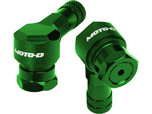MOTO-D Angled Motorcycle Valve Stems - Green (11.3mm)